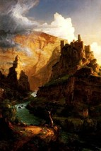 Valley Of The Vaucluse Stream Castle Landscape Painting By Thomas Cole Repro - $10.96+