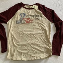 Lucky Brand Powered Ford Cobra Jet L/S Baseball T-Shirt M New NWT Shelby... - $28.49