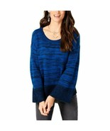 $59.50 Style & Co Marled Colorblocked Sweater, Sea Captain Combo (Blue) - $11.95