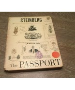 1954 Saul Steinberg THE PASSPORT Vintage Modern Illustrated 1st Edition ... - $116.63