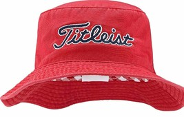 NEW! Titleist Needle Point Bucket Hat 2016 (Small/Medium, Red) - $69.18