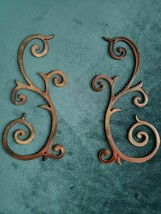 """Metal Wall Art Décor Accents  Small Set 6 1/2"""" wide 3 1/4"""" tall each Mirrored - $16.98"""