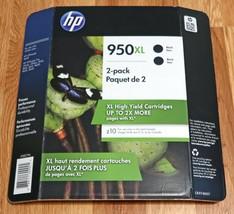 Genuine HP 950XL High Yield 2-Pack Black NEW SEALED OEM Retail Box (Exp 08/2019) - $29.95