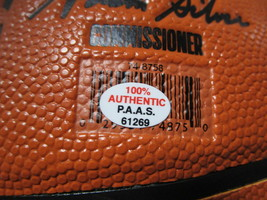 KARL MALONE / NBA HALL OF FAME / AUTOGRAPHED FULL SIZE NBA LOGO BASKETBALL COA image 5