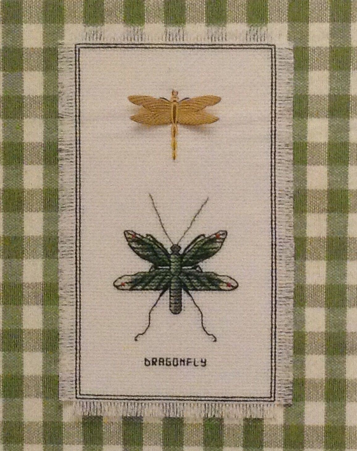 Dragonfly Duo Stamped Cross Stitch KIT Nature Collection Janlynn 18 ct Aida