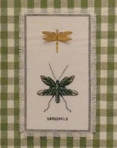 Dragonfly Duo Stamped Cross Stitch KIT Nature Collection Janlynn 18 ct Aida - $9.89