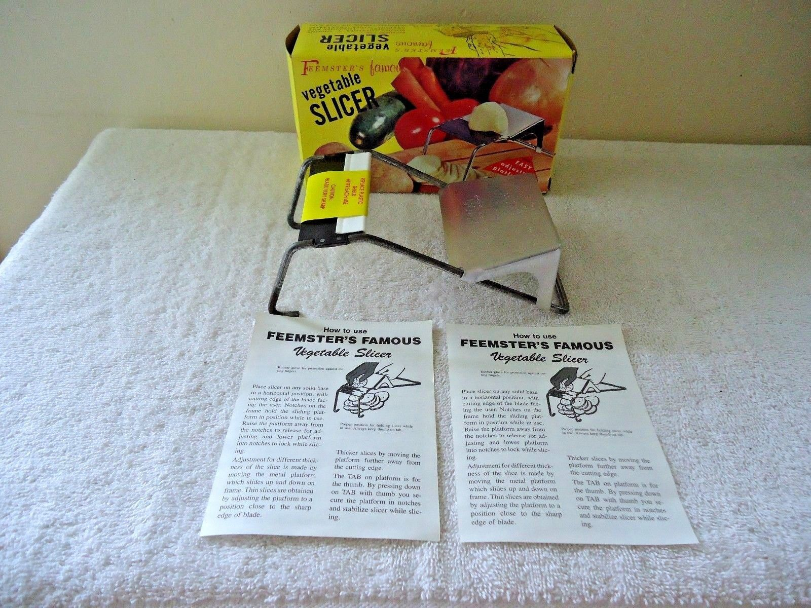 "Primary image for Vintage "" NOS "" Feemsters Famous Vegetable Slicer "" BEAUTIFUL RARE "" NIB "" ITEM"
