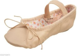 Capezio Daisy 205 Leather Ballet Pink Shoe Girls 13.5 M NIB 1 Piece Sole - $15.32
