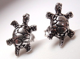Turtles Stud Earrings 925 Sterling Silver Corona Sun Jewelry - $7.91