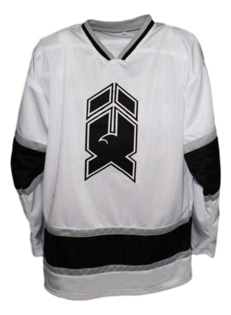 Mike donnelly  19 new haven nighthawks retro hockey jersey white   1