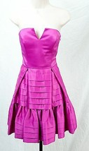 Betsey Johnson Fuchsia Pink Strapless Rockabilly Party Cocktail $428 Dre... - $143.06