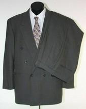 Alfani Mens Suit Double Breasted 42L Gray Nailhead Dot Wool Pants 36 x 28 - $46.48