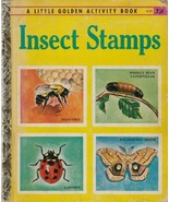 "Insect Stamps 1958 Little Golden Book A25 ""A"" Edition Richard A. Martin - $9.89"