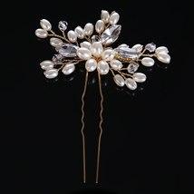 Baroque Pearl Crystal Rhinestone Hairpins Flower Hair Pins Hair Sti Hair... - £5.94 GBP