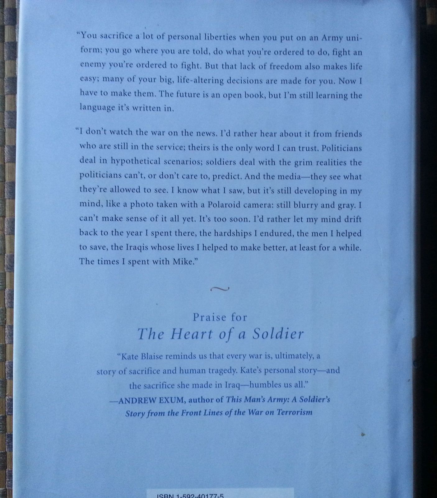 The Heart of a Soldier by Capt. Kate Blaise 2006 HBDJ Love and War