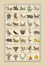 Heraldic Symbols - Sagittarius, Spinx, et al. by Hugh Clark - Art Print - $19.99+
