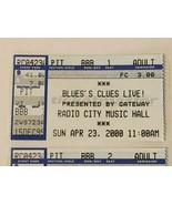 Blues Clues Live Radio City Music Hall NYC Ticket Stub Vintage 2000 Lot ... - $29.99