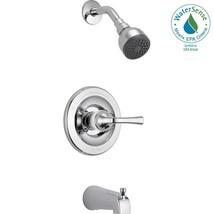 Delta Foundations 1-Handle 1-Spray Tub and Shower Faucet in Chrome, B114900 - $59.99