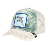 Goorin Bros Snapback Mesh Cap Animal Grey Plastic Death Dolphin Trucker Hat