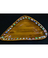 Vintage Italian Art Pottery Dish w Applied Slip... - $16.50