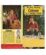 Coleman vintage advertising brochure 1950 lanterns camping ephemera camping - $9.00