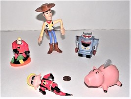 Lot of 5 Disney Pixar The Incredibles and Toy Story Action Figures - $9.89