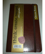 MARKINGS SMOOTH BROWN FAUX LEATHER 240 PAGE GRA... - $13.99