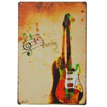[GUITAR] Vintage Metal Painting Wall Decorative Hanging Home/Cafe/Bar