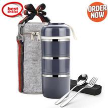 Vacio Bento Lunch Box Portador De Alimentos Termo Aislado De Acero Inoxi... - $41.99