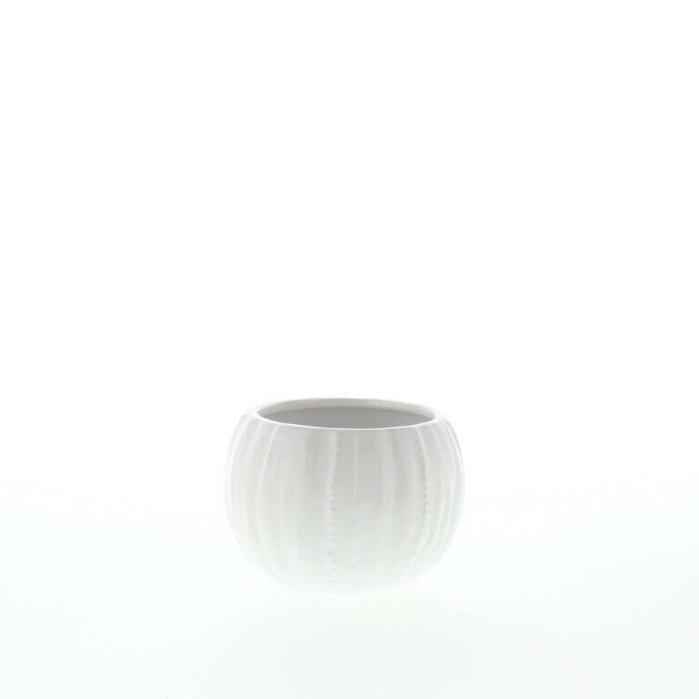 Set of 2 Chic Pure White Textured Ceramic Round Votive Candle Holders image 5