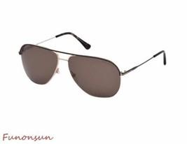 Tom Ford Erin Herren Sonnenbrille FT0466 50J Dunkelbraun Gold / Roviex L... - $185.20