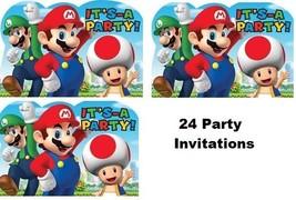 SUPER MARIO BROTHER Party Party Birthday Invitations Invite VideoGame Bo... - $18.76