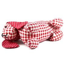Delton Checkered Plaid Red Heart Dachshund Puppy Dog Love Door Stopper Doorstop image 6