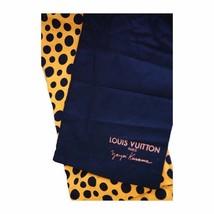 LOUIS VUITTON LV x Yayoi Kusama Stole Scarf Polka dot Silk Wool 400505 Auth Rare - $1,725.63