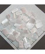"""Selenite White Tumbled Small 1/2 lb Bulk Stones Satin Spar 3/4-7/8"""" Long... - $31.36"""