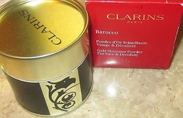 Clarins~Barocco Shimmering Gold Powder for Face & Decollete~Full Size 1.... - $28.80