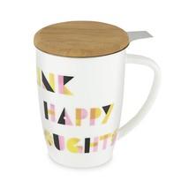 Mugs, Cute White 12 Oz Insulated Bamboo Stainless Steel Ceramic Tea Mug - $27.99