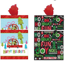 Gift Bags with Tissue Paper, 2 Styles 8 Sheets Tissue Paper Glitter Larg... - $12.82