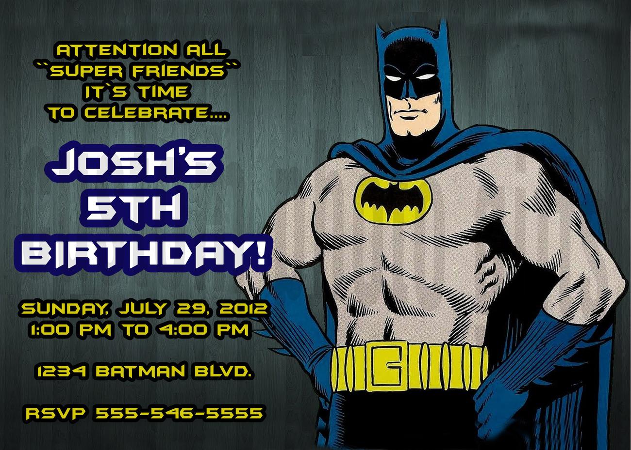 Personalized Batman Birthday Invitation And Similar Items