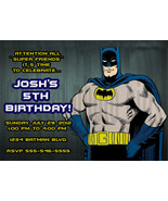 Personalized Batman Birthday Invitation Digital File, You Print - $8.00