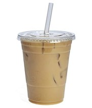 [100 Sets - 16 oz.] Plastic Cups With Flat Lids - $17.23