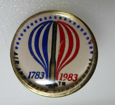 Vintage 1983 Air & Space Bicentennial Pin Lucite Topped - $14.99