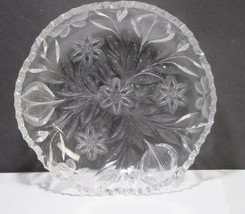 ABP cut glass low bowl Murillo Pairpoint Butterfly ANTIQUE C1 - $92.22