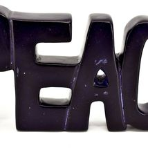 Vaneal Group Hand Carved Soapstone Purple PEACE Free-Standing Word Sign Decor image 6