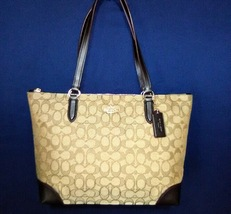 signature Coach S29958 zip top tote/shoulder bag - $190.00