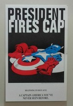 Original 1986 Captain America Marvel Comics promo poster 1: 1980's/Zeck/Avengers - £39.14 GBP