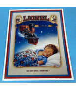 Lionel Embossed Metal Sign Child Dreaming Not Just a Toy, A Tradition 13... - $16.69
