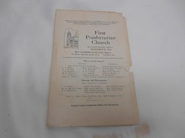 Antique 1912 FIRST PRESBYTERIAN CHURCH Program Mansfield Ohio Rev Raymon... - $9.89