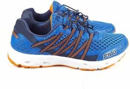 NEW FILA Sorrento Men's Blue / Orange Running Gym Shoes Sneakers 9.5 US