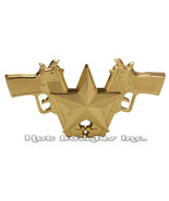 Gold Guns and Star  Belt Buckle - $18.00